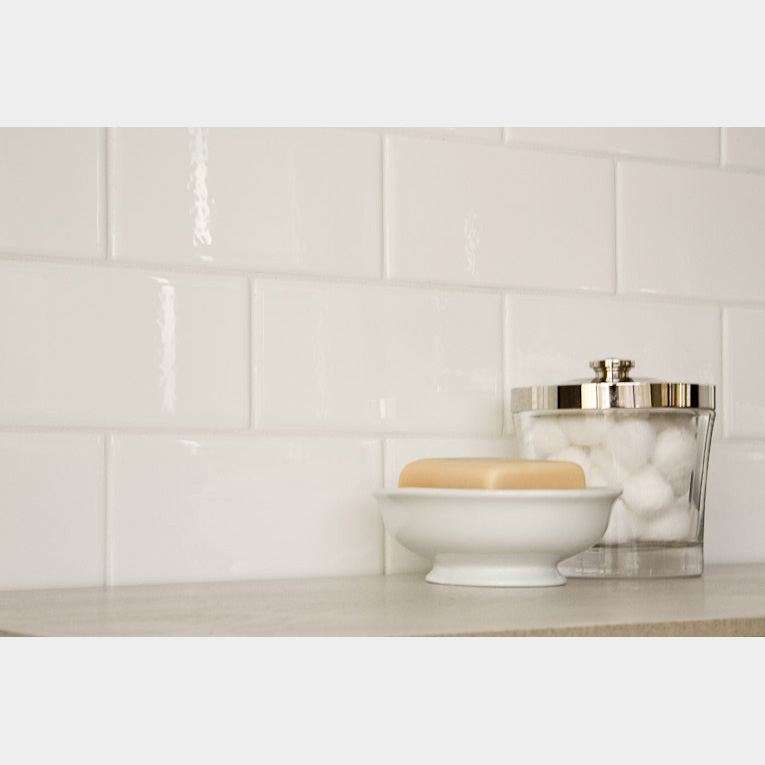 Manhattan White Subway Tile X - 6x8 white wall tile