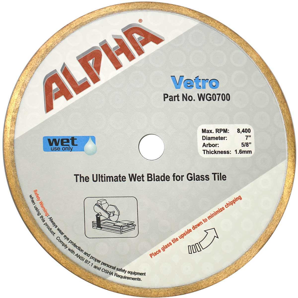 Alpha Wg0700 Vetro 7 Quot Glass Diamond Blade