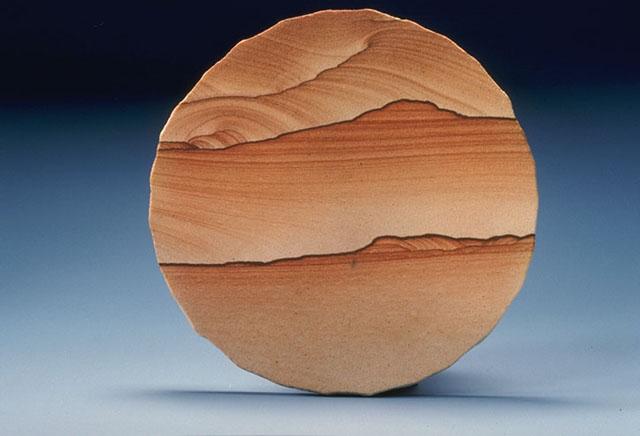 Prepared sample of sandstone