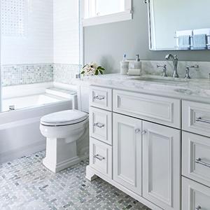 Grey-White Bath Vanity