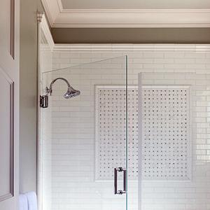 Grey-White Bath Shower