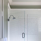 Grey-White Bath Shower
