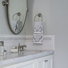 Grey-White Bath Counter
