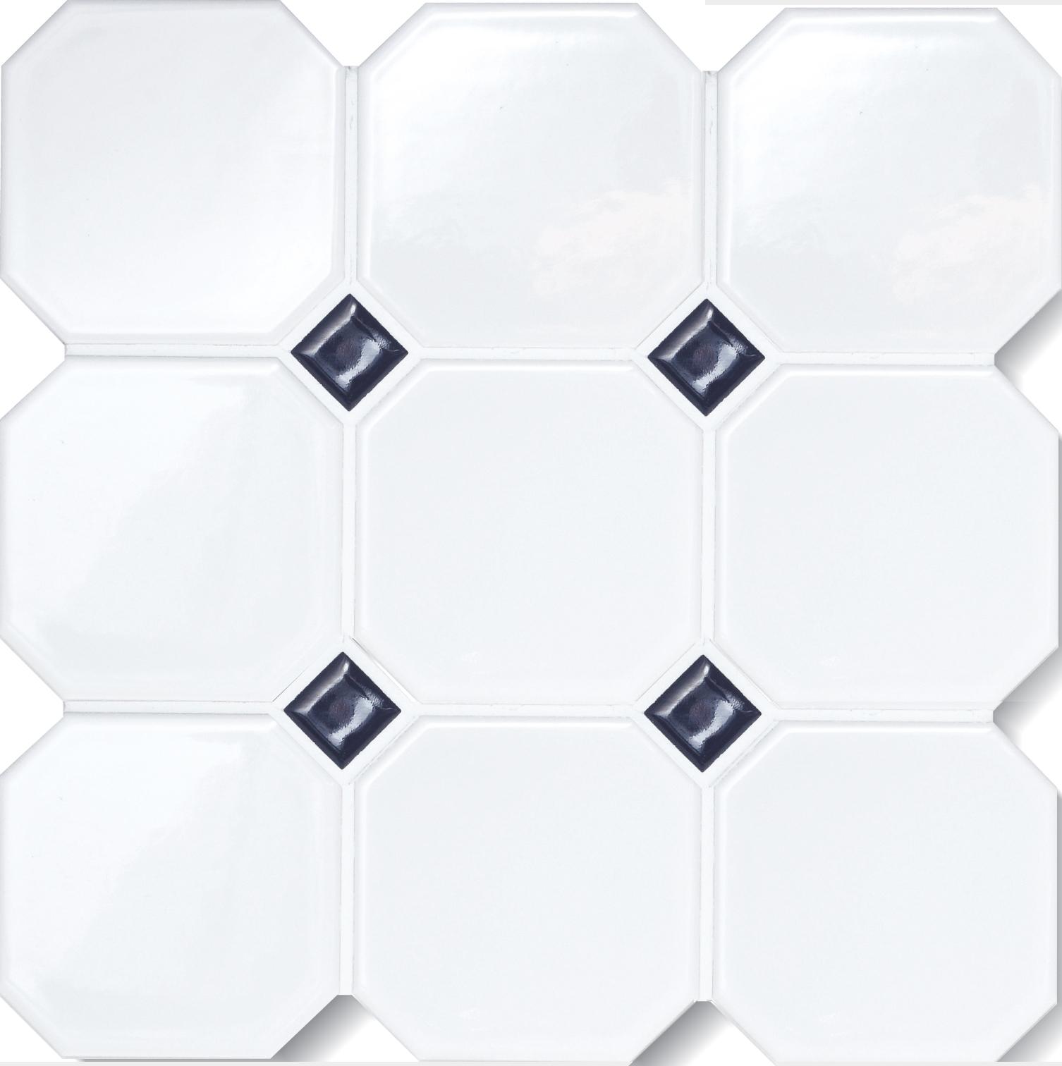 Octagon Matte White 4x4 W O Dots