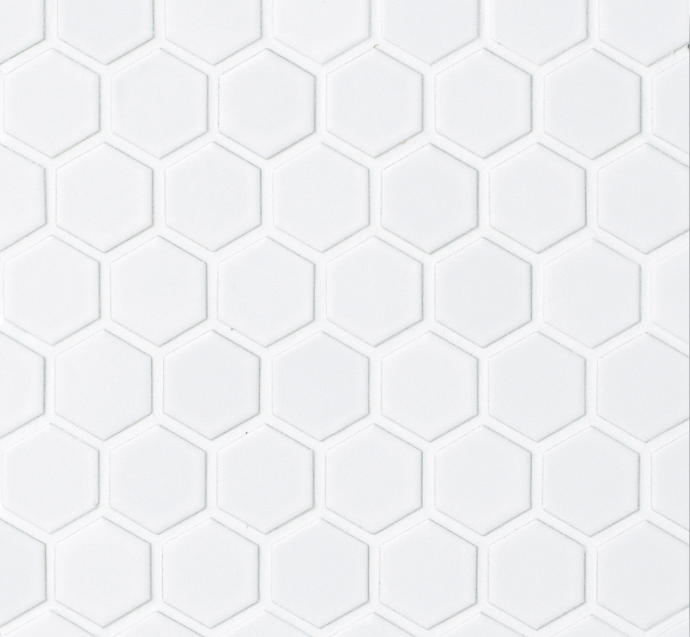 Hexagon Hex 1m Matte White 1x1
