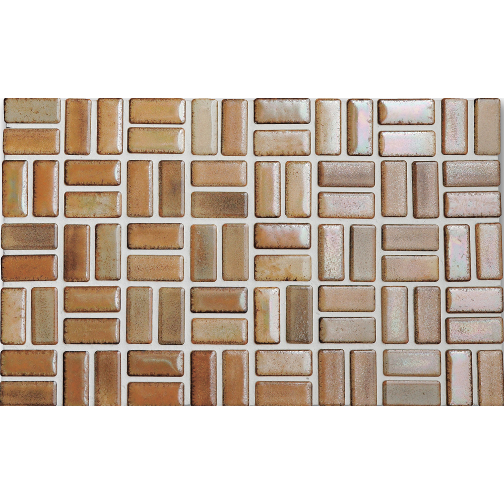Basketweave ceramic tile