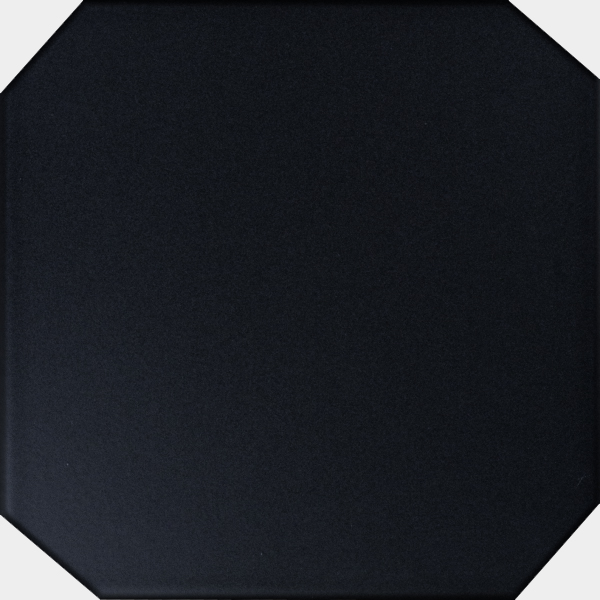 Floor Black X Octagon - 6x6 black floor tile