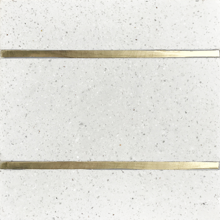 Basel 6 Terrazzo With Brass 6x6